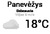 Orai, orų prognozė Panevėžyje - Orai24.lt