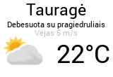 Weather in Taurage - Orai24.lt