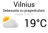 Orai, orų prognozė Vilniuje - Orai24.lt